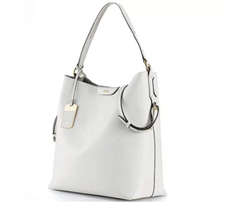 Lauren by Ralph Lauren Tate Hobo White Leather Handbag NWT