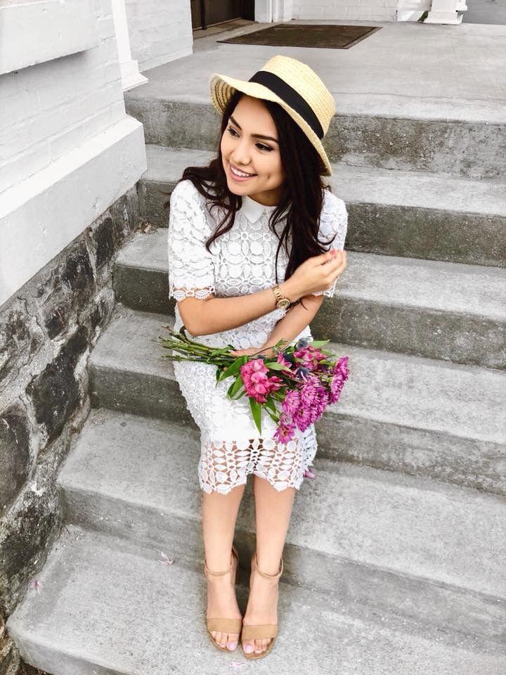 7dcd642e10 Elegant Kate Lace White Midi Dress. Feminine   Lovely Collar Detailing.  Sizes come in S-L! Classy Modest Fashionista   Blogg…