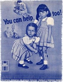 Polio poster - Give to the March of Dimes to help prevent polio!