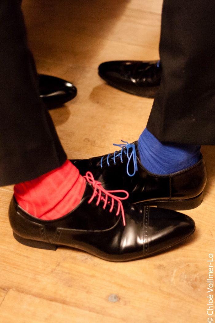 chausettes hommes couleur