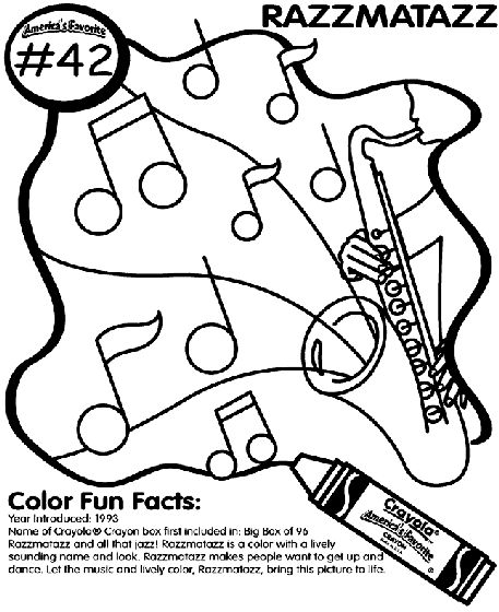 No.42 Razzmatazz coloring page | Cool coloring pages ...