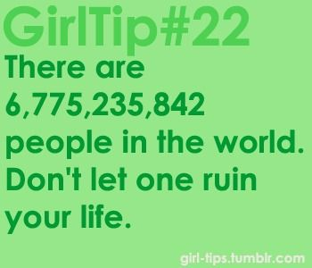 The only girl tip I'll abide by.