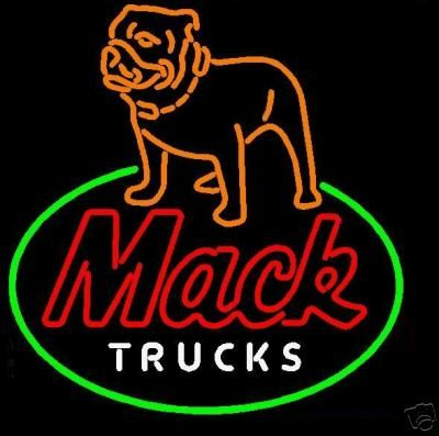 Mack Trucks Bulldog Neon Sign from myneonhaven.com