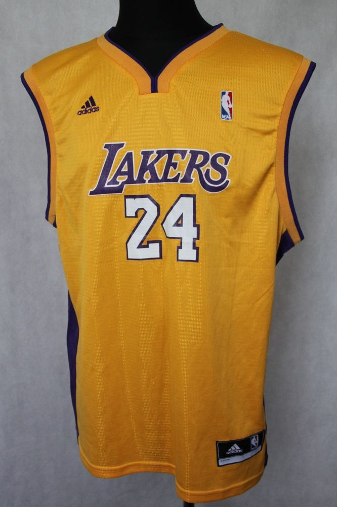 Adidas NBA Los Angeles Lakers Kobe Bryant #24 Men's Shirt Jersey sz L Large #adidas #LosAngelesLakers
