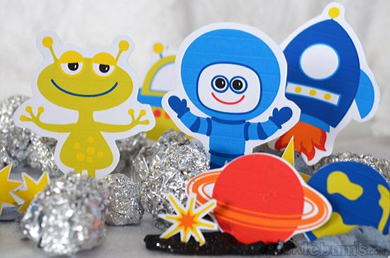 Space Crazy - free printable space characters to download print and play with!...ready to print and cut