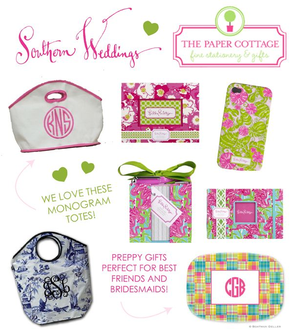 pretty preppy bridesmaid gift ideas!