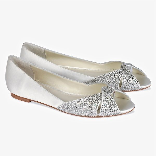 Andie Bridal Flats With Crystals SALE!!  Andie Bridal Flats With Crystals SALE!! Benjamin Adams Wedding Shoes. Andie bridal flats with crystal detail at the toe. A stylish flat wedding shoe that will be fabulous dyed to wear after the wedding. regular price $270 SALE $199