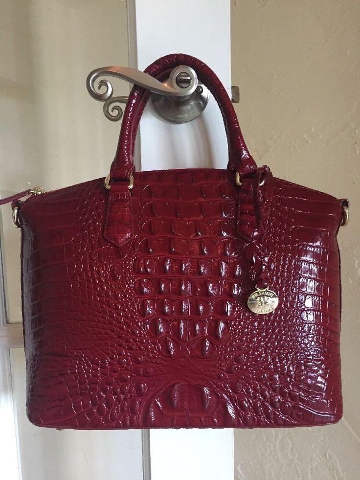 Brahmin Duxbury Satchel Carmine Red Melbourne Leather #Brahmin #Satchel