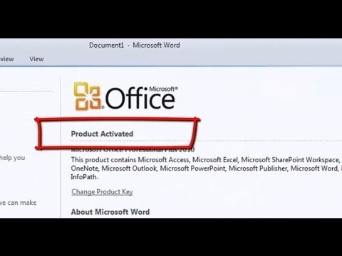 How to Activate Office 2010 (All Editions) Without any Key or Serial