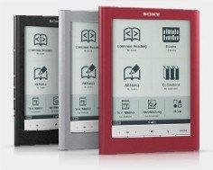 As cores do Sony Reader Touch Edition
