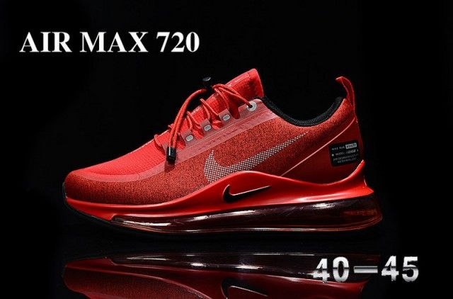 Nike Air Max 720 Red Black Unisex Running Shoes Nike St009187 En