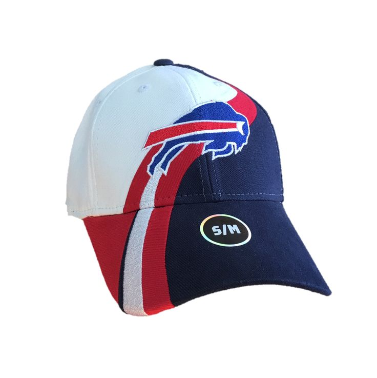 NFL Buffalo Bills Multi Colored Flex Fit Hat w/ Bill's Logo on the Front S/M