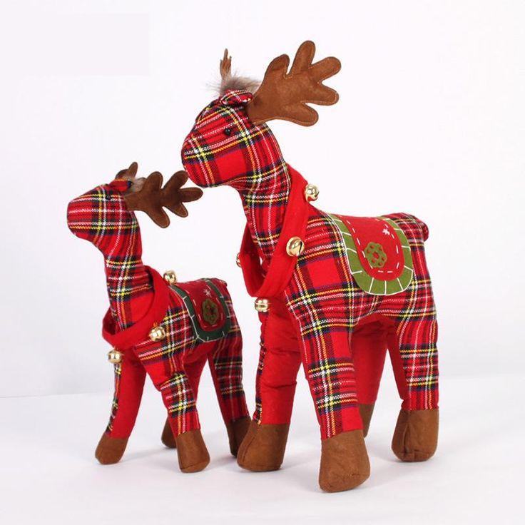 Piękny Szkocja Łosia Świąteczne Pluszowe Zabawki Xms Ozdoby Xmas Prezenty Adornos Navidad Figurki Miniatury Biurko Dekoracji Dla Domu(China (Mainland))