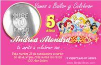 Invitaciones Princesas Disney con foto. crear tu propia invitacion con foto con un lindo diseño y personaliza tu texto en linea y descargala para imprimir o compartir en facebook