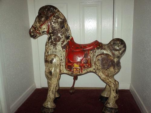 Mobo Bronco Horse Vintage Tin Pedal Toy Horses Vintage