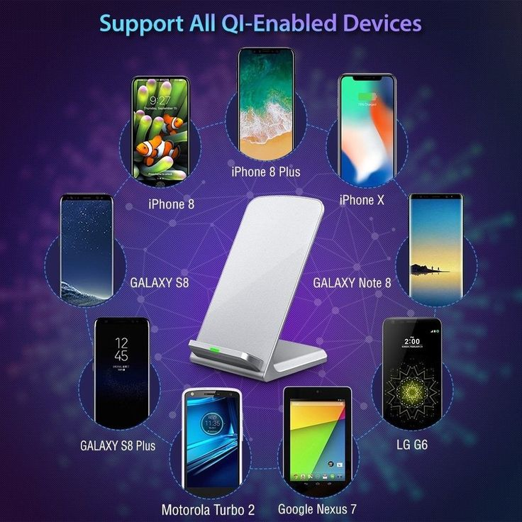 iPhone X Wireless Charger, Turbot 3-Coil Qi Wireless Charger Stand Pad 4 iPhone #Turbot