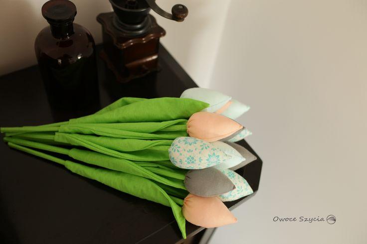 #owoceszycia tulipany z materału   fabric tulips handmade