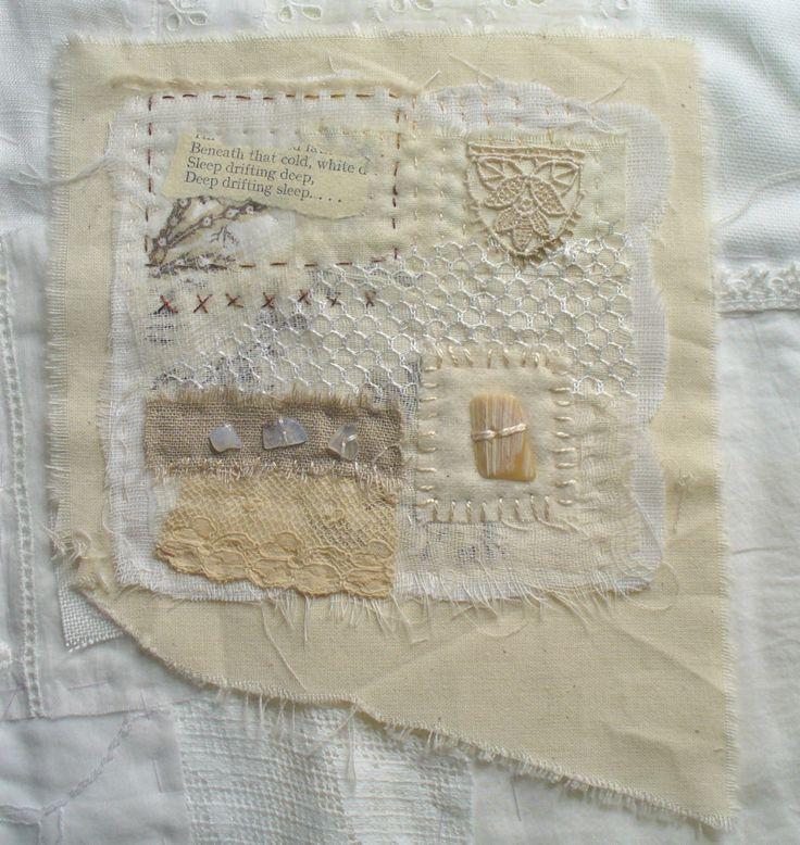 karen turner...#whiteFibre Art, Half Spoken, T Mixed Media, Clothing Stitches, Art Quilt, Textiles Art, Spoken Thoughts, Fiber Art, Karen Turner
