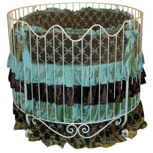 Nursery Necessities Baby Cribs Addison Scroll Round Iron Crib In Choice Of  Finish At PoshTots