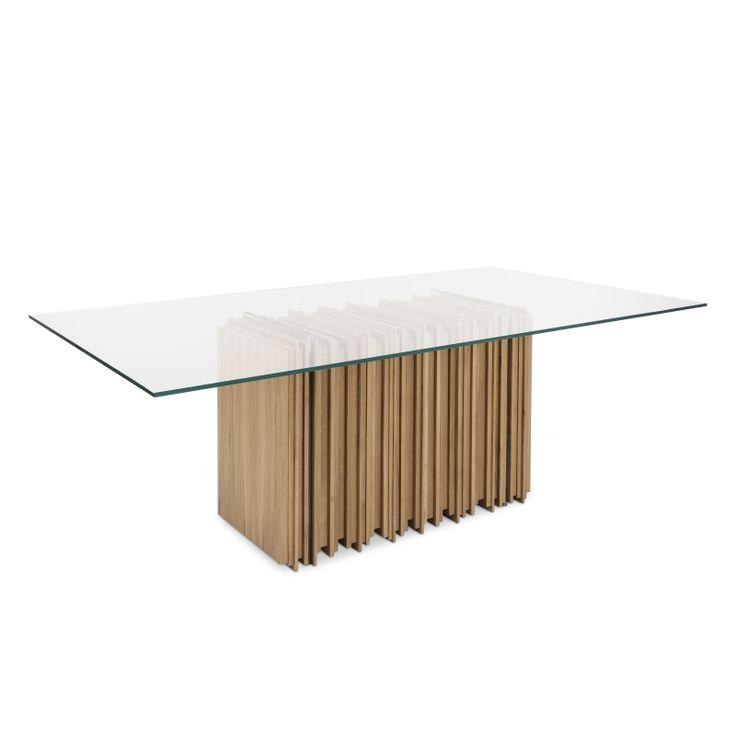 SEXTO OAK TABLE #BrahmansHome #BrahmansFiveElements #Brahmans #sexto #oak #table #dining #design #luxury #furniture #interiordesign #interiors #wood #glass #metal #home #inspirations #packshots