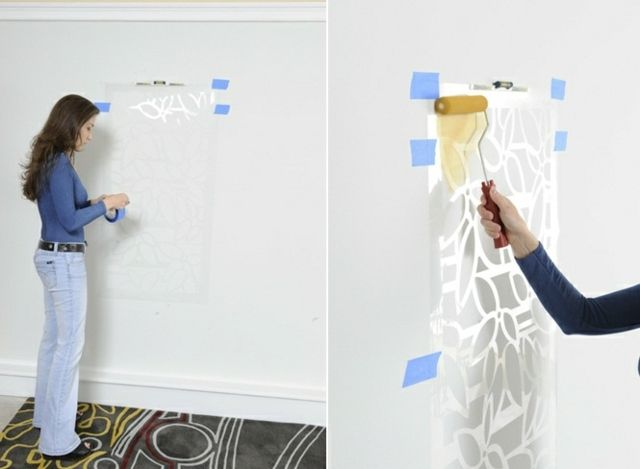 ber ideen zu wand streichen muster auf pinterest. Black Bedroom Furniture Sets. Home Design Ideas