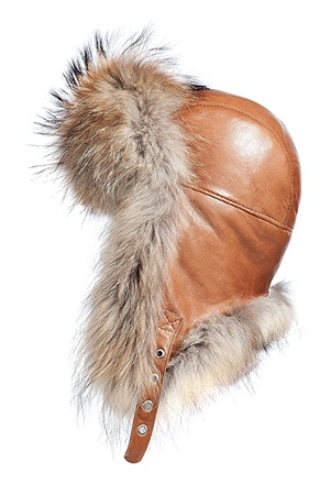 kevandbelle cOgnac raccoon fur cap