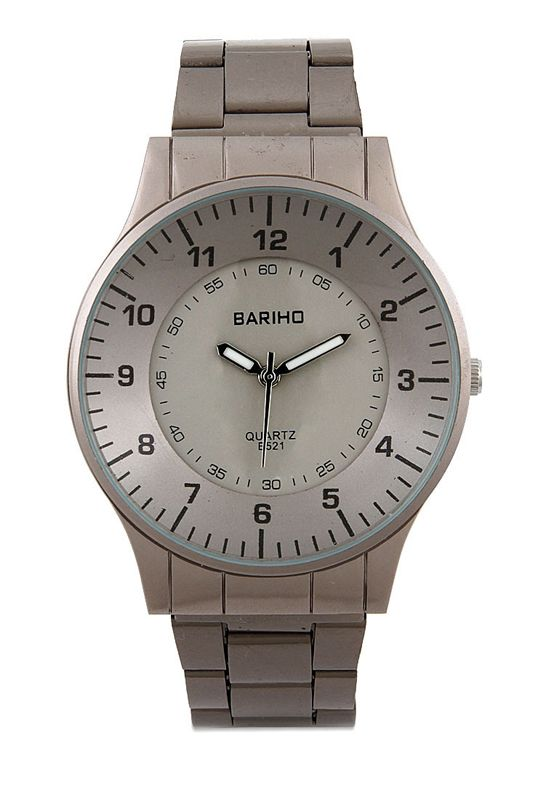 Br E 521 Abm Watches by Bariho in grey. Made of stainless steel material. Quartz watch and water resistant. You can mix and match this watch with both casual or formal dress for any occasion.  http://zocko.it/LD9kt