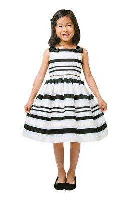 Black and white flowery dress kids