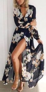 #summer #fashion / slit floral dress