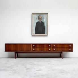 oswald vermaecke. ultra low v-form paola sideboard.