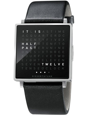 The literal timeTime, Men Watch, Stuff, Style, Cool Watches, Wall Clocks, Qlocktwo, Products, Digital Watches