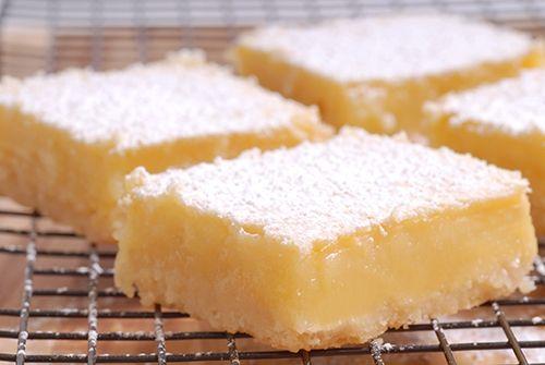 Receta de Cuadraditos de Limón Lemon Bars