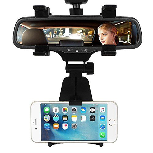 Car Mount/Rearview Mirror Mount Truck Auto Bracket Holder Cradle for iPhone 7/6/6S/6S Plus/5S/4S, Samsung Galaxy S6/S6 edge/S5, Cell Phones, Smartphone, GPS/PDA/MP3/MP4 Devices