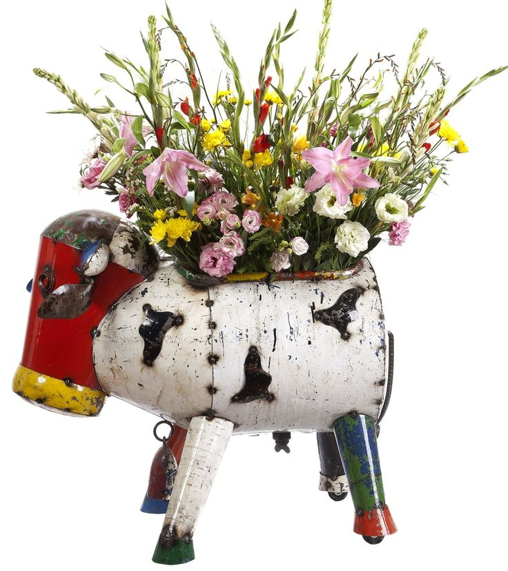 EEIEEIO Metal Animal Clarence The Cow Planter From Earth Homewares |  EEIEEIO Animals | Pinterest | Cow, Planters And Metals