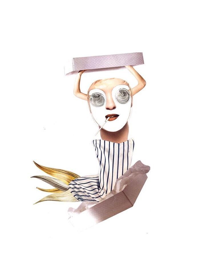 Show Man ✂️  Analog collage by Mihaela Nastase  www.handcutcollage.com