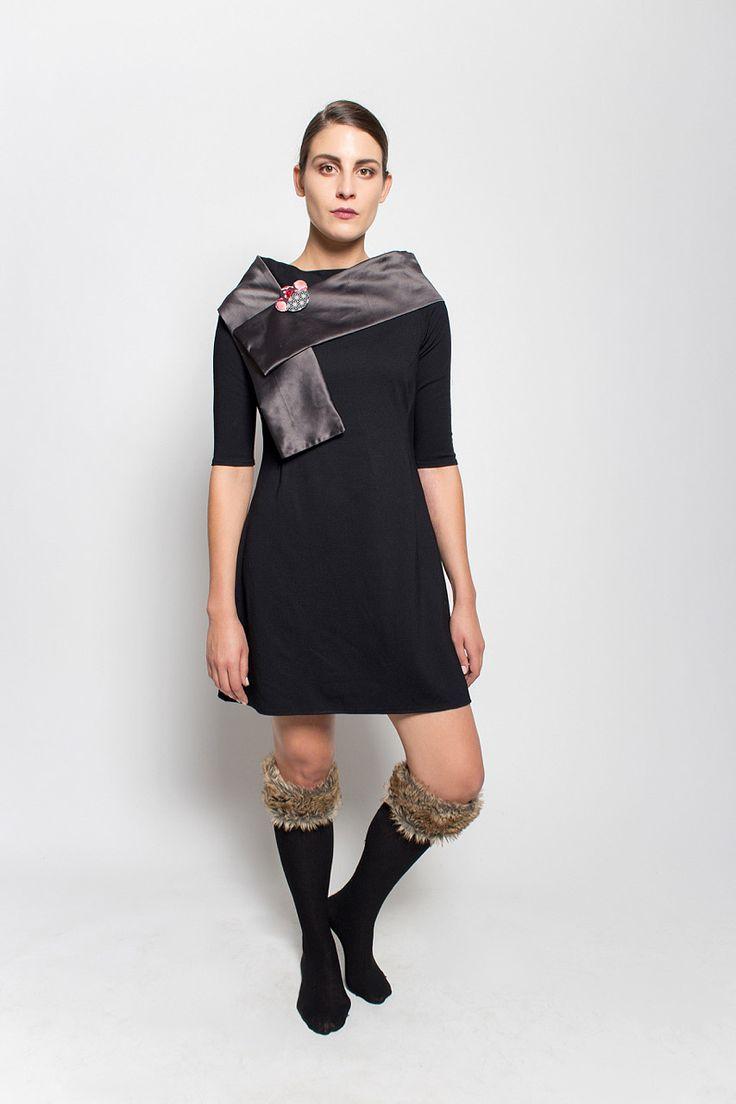 #lafemmemimi #fashion #prague #autumn #winter #2015 #lookbook #black #dress #scarf