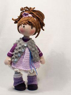Ganchillo patrones para muñeca MIA Deutsch Inglés por CAROcreated
