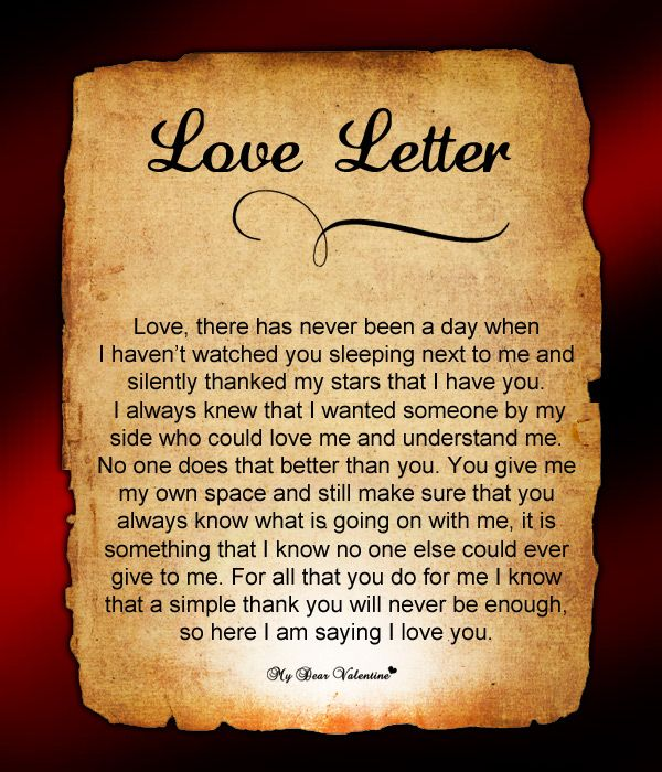 Happy Birthday My Love Letter Ibovnathandedecker