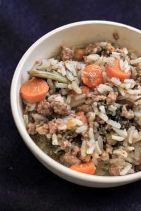 Happy Cook For Your Pet Day! (November 1st) This nutritious homemade dog food recipe contains carrots, blueberries, and sweet potatoes – all containing cancer-fighting vitamins and antioxidants, just in time for Pet Cancer Awareness Month.