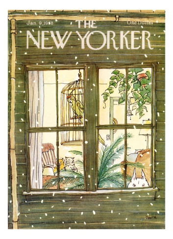 The New Yorker Cover - January 9, 1978 Giclee Print by George Booth at Art.com