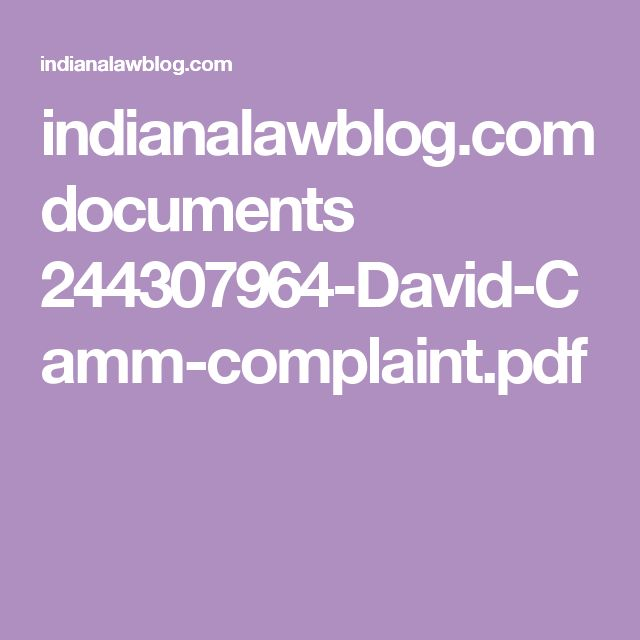 indianalawblog.com documents 244307964-David-Camm-complaint.pdf