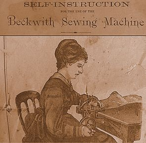 eckwith Sewing Machine. The fabric feeds towards the operator not away.