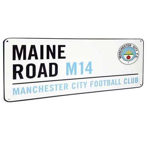 MANCHESTER CITY Maine Road Metal Street Sign. Approx 40cm x 18cm. Official Licensed Manchester City Maine Road street sign. FREE DELIVERY