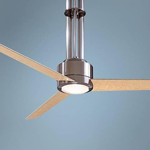 1045 best ceiling fans images on pinterest blankets ceilings and 56 minka flyte brushed nickel ceiling fan 47219 lamps plus aloadofball Images