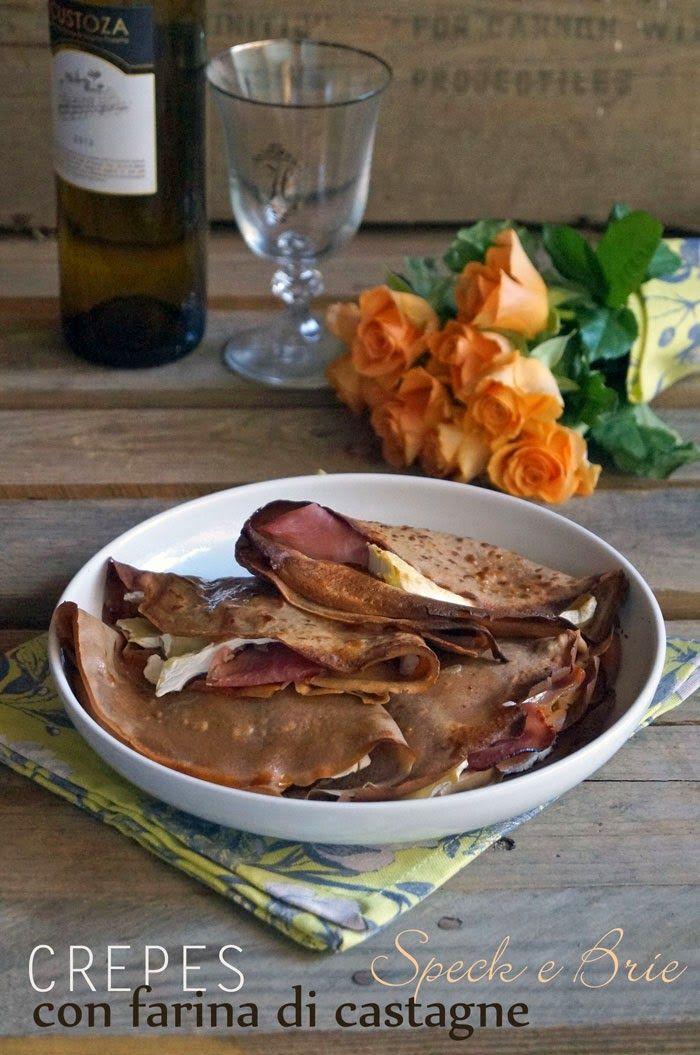 il gattoghiotto: Crépes di farina di castagne, speck e brie (gluten free)