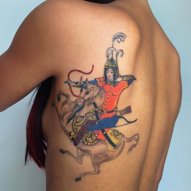 Tattoo of art from Persian Book of Kings (The Shanameh) by Amanda Wachob