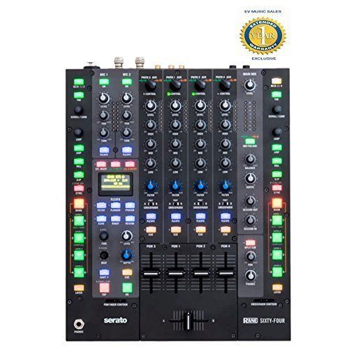 Rane Sixty-Four 4-Channel DJ Mixer with Serato DJ Software and 1 Year Free Extended Warranty - http://djsoftwarereview.com/most-popular-dj-mixers/rane-sixty-four-4-channel-dj-mixer-with-serato-dj-software-and-1-year-free-extended-warranty/ #DJMixer, #DJequipment, #PioneerDJ, #Music Mixer, #DJApp, #DJSoftware, #DJTurntables, #DJLighting