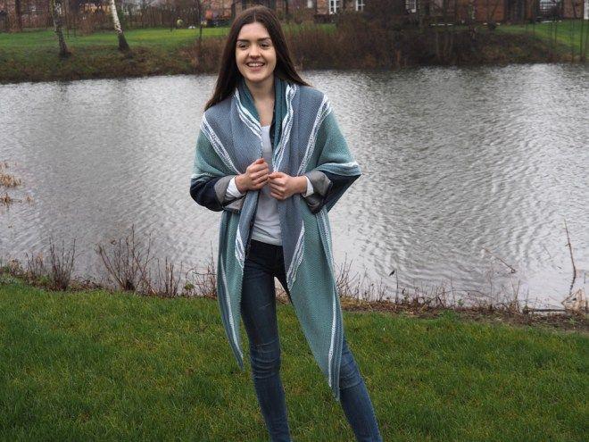 Dreieckstuch stricken - XL-Tuch Meerblick | Meine fabelhafte Welt