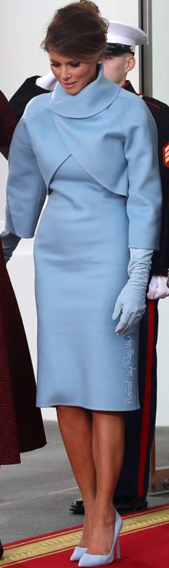 Beautiful in blue!! /Regilla ⚜ Melania Trump