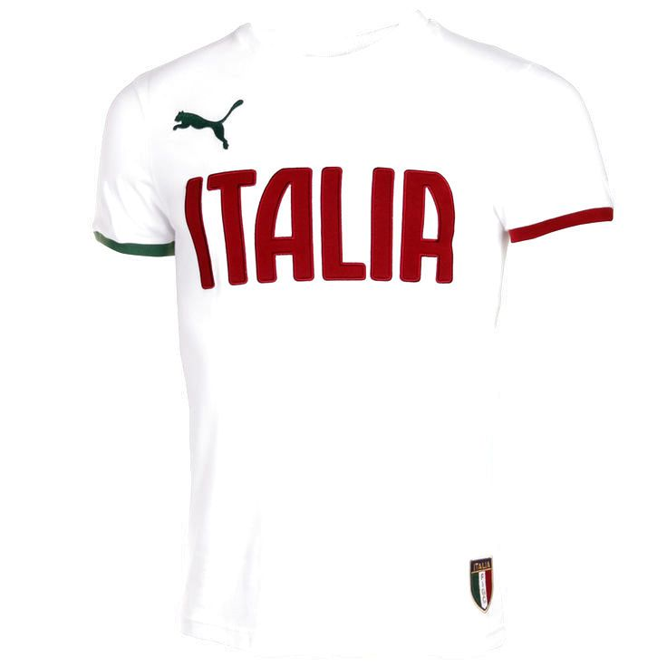 Puma Italy Team Name Graphic T-Shirt - White/Burgundy - $27.99